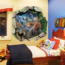 Dinosaur Cracked Vinyl Wall Sticker Kids Nursery Room Decal Wallpaper Decor