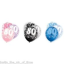 "Glitz 13th-100th Milestone Birthday Party Pearlised LATEX Balloons 12"" X6"