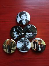 "1.25"" Bob Dylan pin back button set of 6"