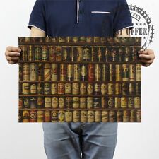 """Poster Vintage Retro Wall Art Home Office Evolution Cabinet Beer Beers 20x14"""""""