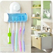 Toothbrush SpinBrush Suction Cups Holder Stand 5 Racks Home Bathroom Wall Mount