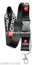 Citroen Lanyard NEW Black  - UK Seller - Car Keyring ID Holder Phone Strap