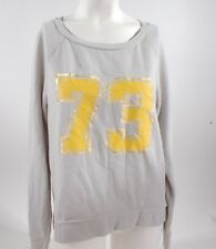 2014 NWT WOMENS BILLABONG YOUR NUMBER PULLOVER $50 M fossil grey yellow
