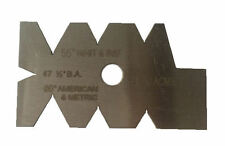 RDG TOOLS SCREW CUTTING GAUGE 55 DEGREE BSW / BSF / BA AND ACME