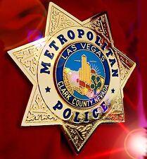 LAS VEGAS METROPOLITAN POLICE BADGE - CLARK County NEVADA - Collectors HALLMARK*