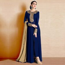 Indian Stylish Designer Bollywood Party Blue Anarkali Salwar Suit Kameez Dress
