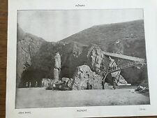 Antique 1903 PLEMONT CORBIERE LIGHTHOUSE JERSEY CHANNEL ISLANDS Photograph Print