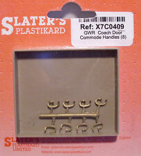 Slaters X7C0409 - 7mm (0) - 8 x GWR Coach Door Commode Handles Brass - 1st Post