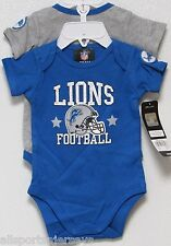 NFL NWT INFANT ONESIE-SET OF 2- DETROIT LIONS 3-6 MONTHS
