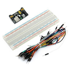 MB102 Power Supply Module+Breadboard Board 830 Point+65PCS Jumper cable NEW