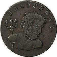 Großbritannien England  1/2  Penny Token 1794 Walfang, Neptun m. Dreizack Kupfer