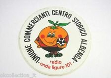 ADESIVO RADIO anni '80 / Old Sticker RADIO ONDA LIGURE 101 Albenga Calcio (cm 9)