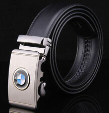 WFN Popular mens Leather Belt Waistband Strap With Luxury Automatic Buckle BMW
