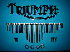 Triumph T100 500cc SS Stainless Engine Allen Screw Cover Kit 1969 on UK FREEPOST