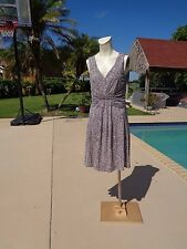 BANANA REPUBLIC ISSA LONDON STRIPED PRINT SLEEVELESS CASUAL DRESS Sz 6