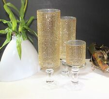 3 Set candle holder glass wedding centerpieces light Crystal tall tower holder