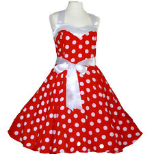 Rockabilly 50er   Kleid Petticoat Pin Up Party Baumwolle S-M 59-55