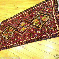 Ca1930-1939s Antique 1'6''x2'11'' Natural Dyes Wool Pile Tribal Rug Turkey
