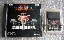 F1 Triple Battle, Pc Engine, Nec, Hu Card, coregrafx, completo, game condition