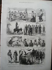 1879 AFGHAN WAR ROUTE TO QUETTA AND CANDAHAR PRINT ILLUSTRATED LONDON NEWS