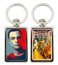 LLAVERO METAL THE BIG BANG THEORY SHELDON COOPER CAPTAIN FUTURE POSTER KEYRING