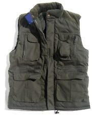 MENS GREEN BODYWARMER Gents large warm country jacket padded multi pocket coat