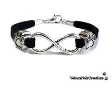 Bracciale artigianale con simbolo infinito  orma zampa cane idea regalo handmade