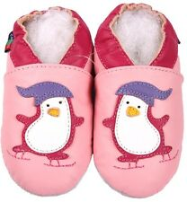 shoeszoo new soft sole leather baby shoes penguin pink 6-12m S