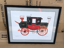 York London Royal Mail Coach Art Print Framed 22x18 Science Museum Collection