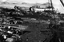New 5x7 Korean War - Conflict Photo: Evacuation of Supplies from Hungnam, Korea