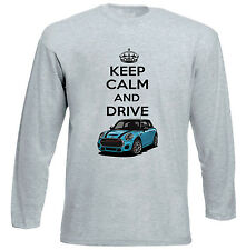 MINI COPPER BLUE KEEP CALM - GREY LONG SLEEVED TSHIRT- ALL SIZES IN STOCK
