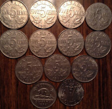LOT OF 13 NICKEL GEORGE V-VI INCLUDING KEY DATE 1926 ALL DIFFERENT YEARS LOOK !!
