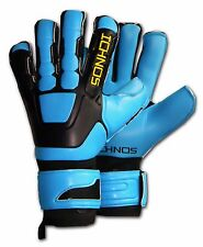 ICHNOS BRAJA NEON HYBRID SOCCER FOOTBALL FINGERSAVE GOALKEEPER GLOVES SIZE 9