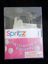 Spritz DIY BANNER KIT Personalize It Yourself Silver Letters Numbers Blanks NEW