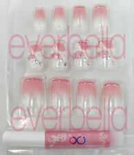 12 PCS 3D Pre-design French Acrylic False Nail Tips 54138-7