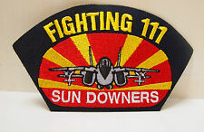 FIGHTING 111 SUN DOWNERS PATCH NAVY FIGHTER SQUADRON VFC SUNDOWNERS PILOT USA