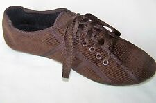 Ladies Womens Brown Cord Effect Shoes Lightweight Pumps Size 4 (37) New In Box