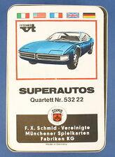 Quartett - SUPERAUTOS - Fehldruck - FX Schmid - Nr. 53222 - von 1968 - FXS 2