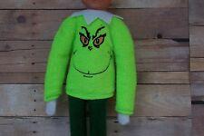 Elf Clothes Mean Green One Fleece Sweater for on the Shelf Sitter Handmade Shirt