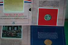 1993 Bill of Rights SILVER Half Dollar Coin and Madison Medal Original Set
