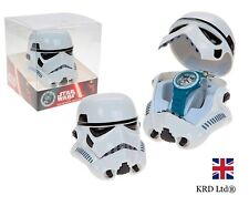 Star Wars STORM TROOPER ANALOG Armbanduhr In 3D KOPF HÜLLE Kinder Kind