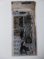 *BRAND NEW* TIM HOLTZ Stamp & Stencil Set 'HALLOWEEN 1'