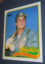 "VTG MLB JOSE CANSECO OAKLAND ATHLETICS 1989 TOPPS 500 CARD FOLDER 9.5"" X 11.75"""
