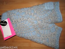 NEW GLOVES BETSEY JOHNSON Lace Detail Texting Glove $32 RV Blue