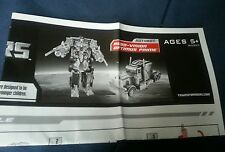 TRANSFORMERS MOVIE ROBO-VISION OPTIMUS PRIME INSTRUCTION BOOKLET ONLY FREE S/H