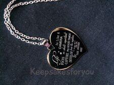 Personnalisée photo ou texte gravé grand collier coeur, pendentif.