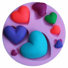 3D Heart Fondant Mold Silicone Cake Decorating Craft Sugar Chocolate Clay Mould