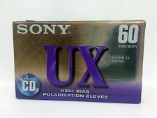 SONY UX 60 BLANK AUDIO CASSETTE TAPE NEW RARE 1995 YEAR MEXICO MADE
