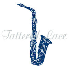 NEW Tattered Lace Essentials 'JAZZ SAXOPHONE' Art Deco Die - ETL557 FREE UK P&P