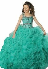 Communion Party Prom Princess Pageant Dress Ball Gown Birthday flower girls kids